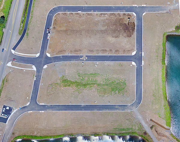 aerial mapping of developments