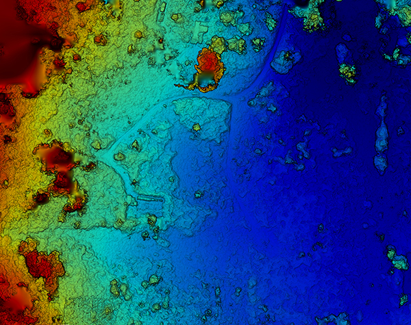elevation and topography maps